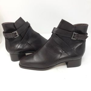 Vintage Italian Made New Leather Ankle Booties